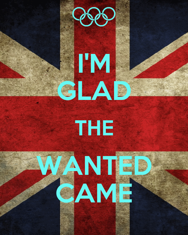 I'M GLAD THE WANTED CAME