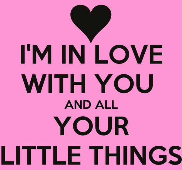 I'M IN LOVE WITH YOU  AND ALL YOUR LITTLE THINGS