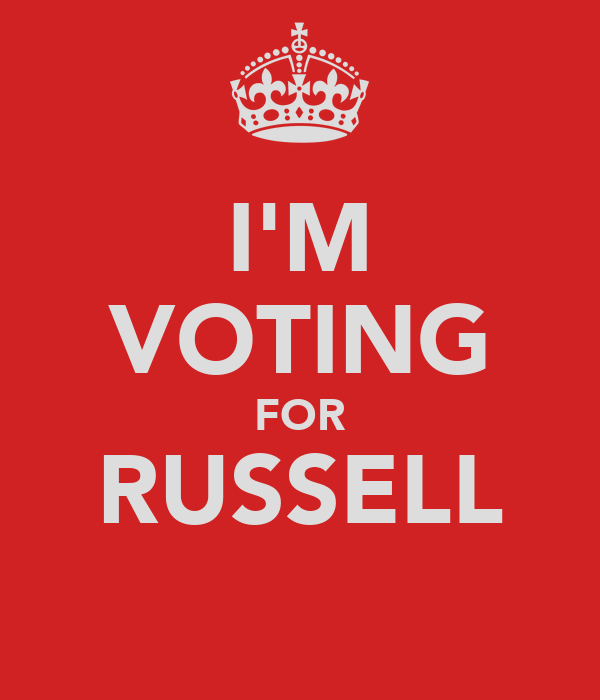 I'M VOTING FOR RUSSELL