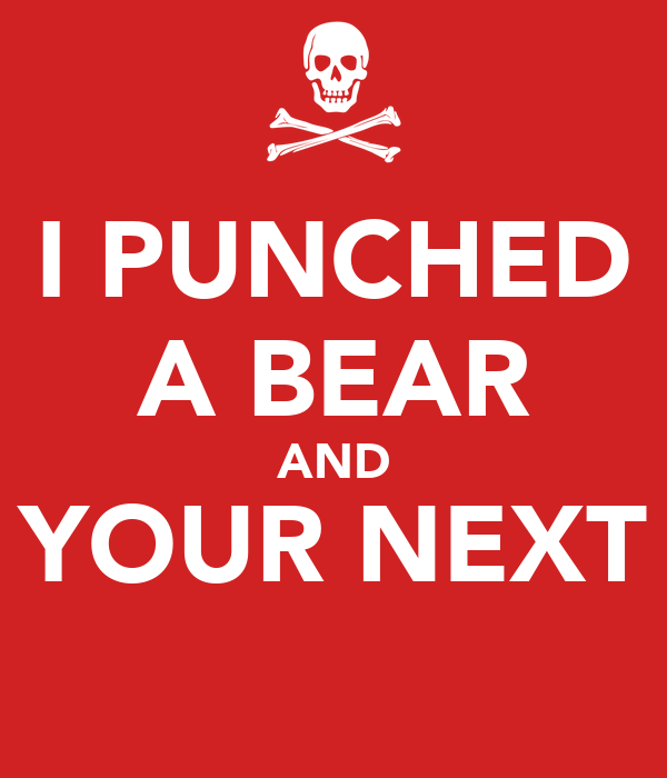 I PUNCHED A BEAR AND YOUR NEXT