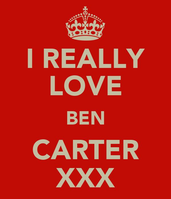 I REALLY LOVE BEN CARTER XXX