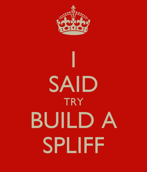 I SAID TRY BUILD A SPLIFF