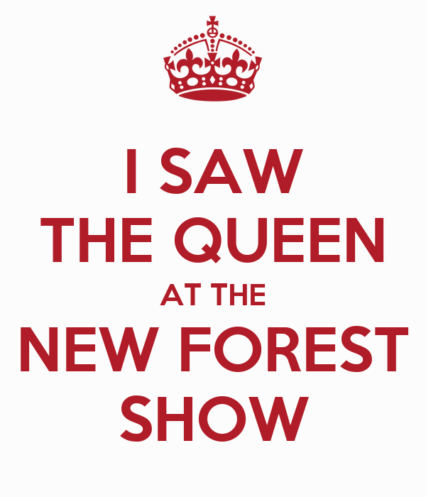 I SAW THE QUEEN AT THE NEW FOREST SHOW