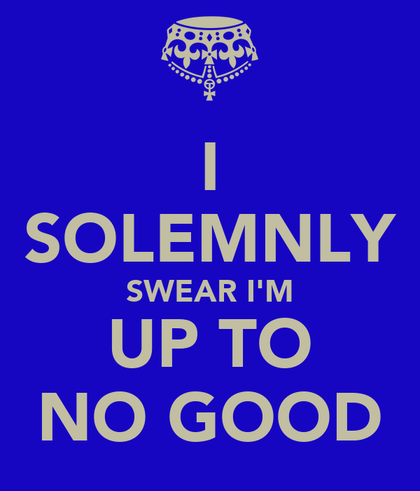 I SOLEMNLY SWEAR I'M UP TO NO GOOD