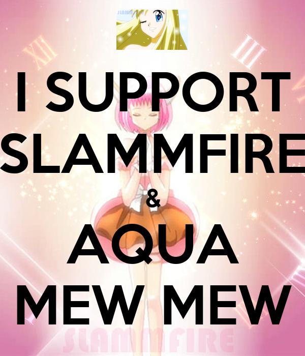 I SUPPORT SLAMMFIRE & AQUA MEW MEW