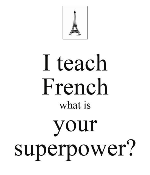 French 75years ago teacher