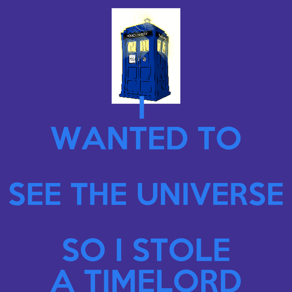 I  WANTED TO SEE THE UNIVERSE SO I STOLE A TIMELORD