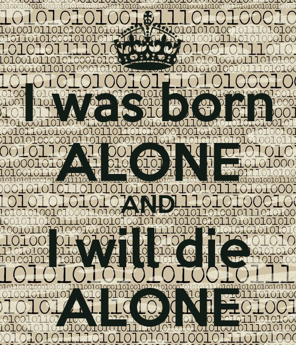 I Was Born Alone And I Will Die Alone Poster Michael Keep Calm O