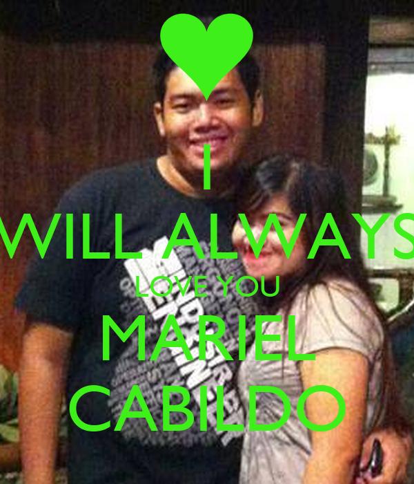 I WILL ALWAYS LOVE YOU MARIEL CABILDO