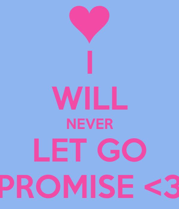 I WILL NEVER LET GO PROMISE <3