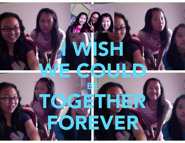 I WISH WE COULD BE TOGETHER FOREVER
