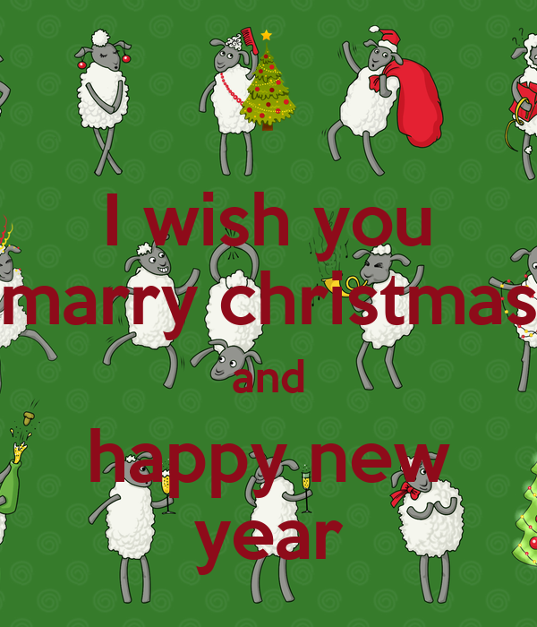 I wish you marry christmas and happy new year
