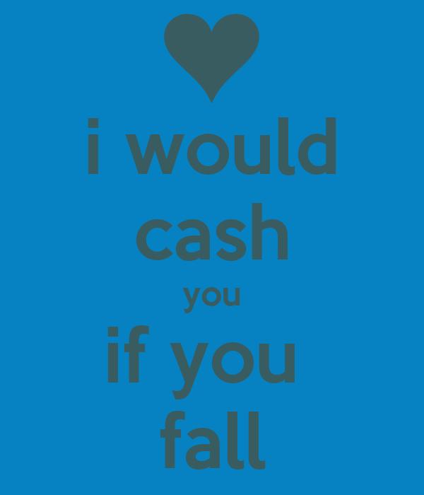 i would cash you if you  fall