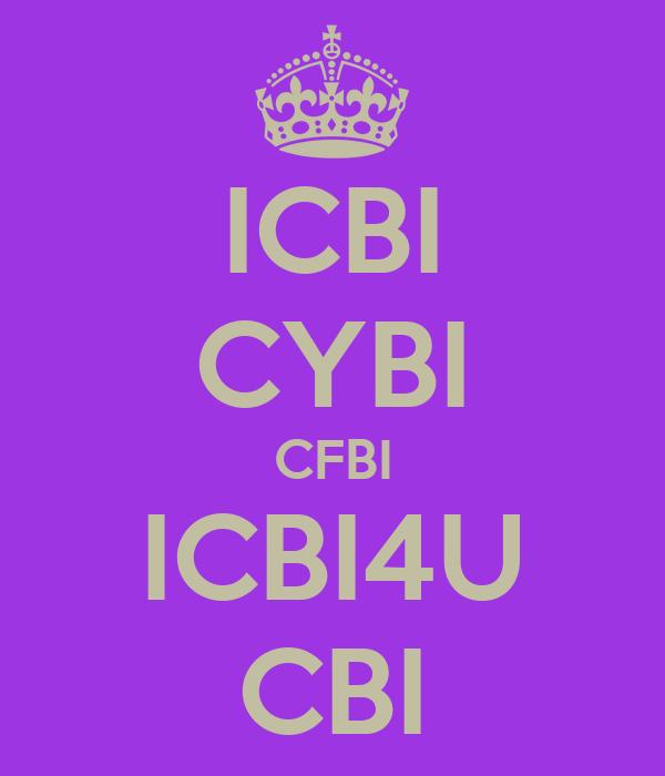 ICBI CYBI CFBI ICBI4U CBI
