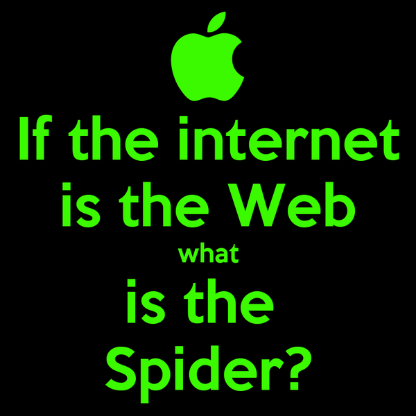If the internet is the Web what is the  Spider?