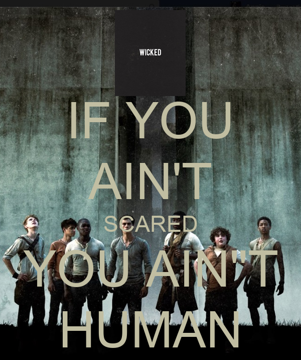 """IF YOU AIN'T SCARED YOU AIN""""T HUMAN Poster 
