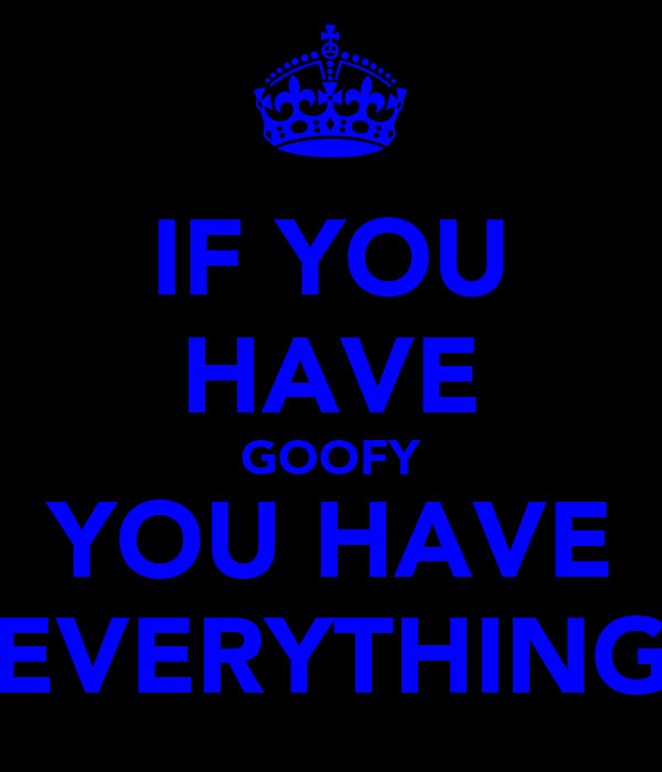 IF YOU HAVE GOOFY YOU HAVE EVERYTHING