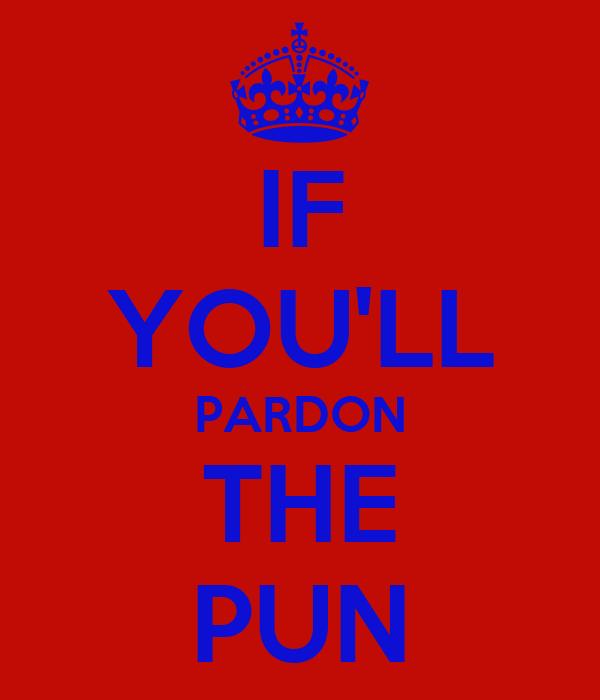 IF YOU'LL PARDON THE PUN