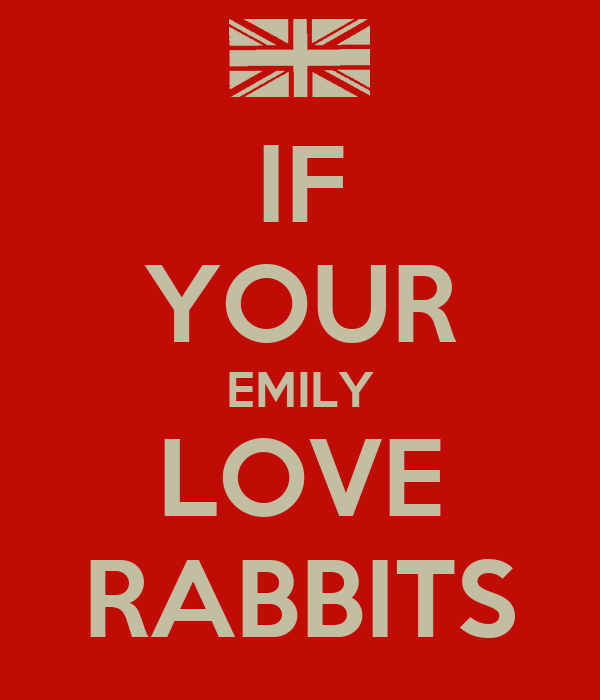 IF YOUR EMILY LOVE RABBITS