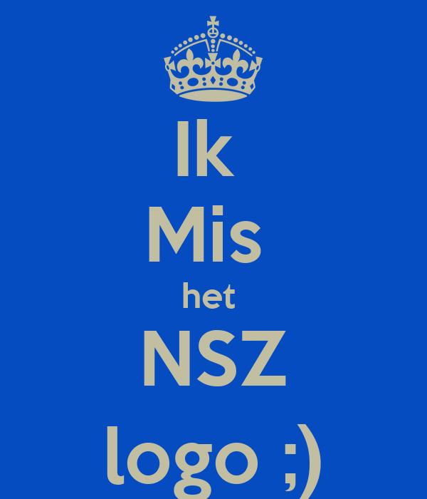 Ik  Mis  het  NSZ logo ;)