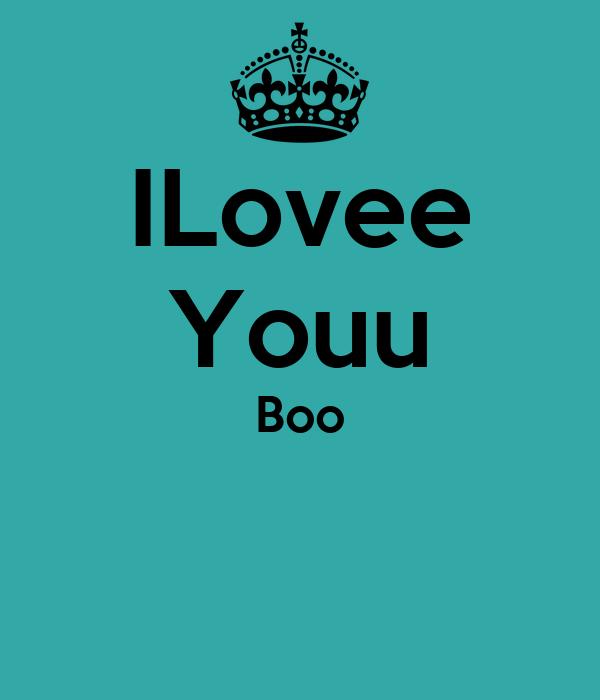 ILovee Youu Boo