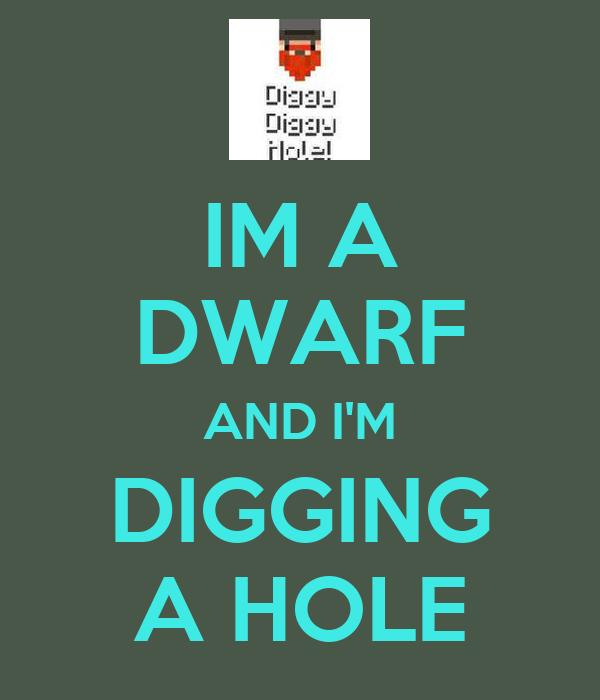 IM A DWARF AND I'M DIGGING A HOLE