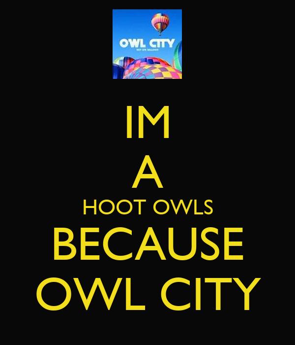 IM A HOOT OWLS BECAUSE OWL CITY