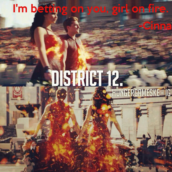 I'm betting on you, girl on fire.  -Cinna
