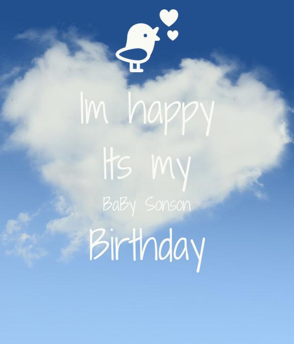 Im happy Its my BaBy Sonson Birthday 💙💙