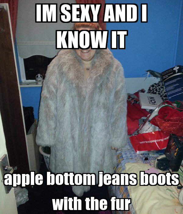 apple bottom jeans boots with fur
