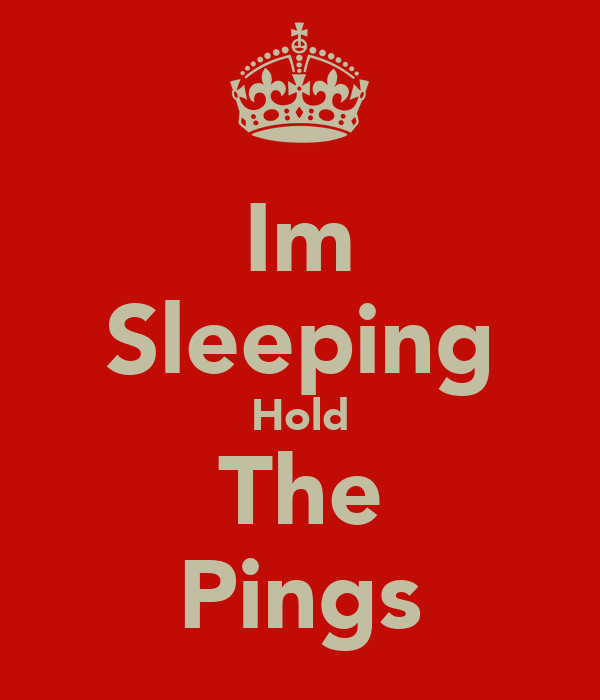 Im Sleeping Hold The Pings