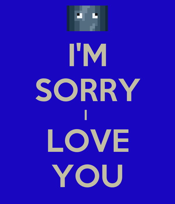 I'M SORRY I  LOVE YOU
