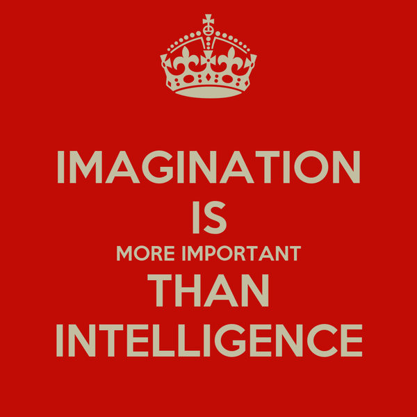 IMAGINATION IS MORE IMPORTANT THAN INTELLIGENCE
