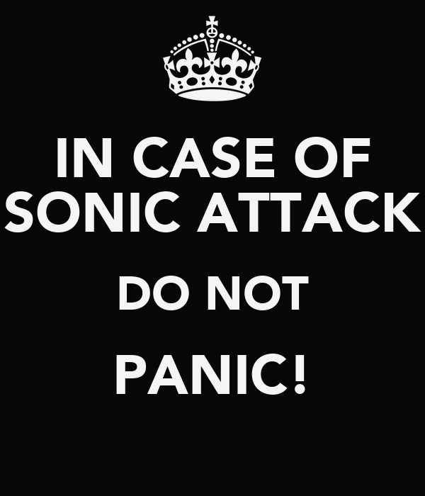IN CASE OF SONIC ATTACK DO NOT PANIC!