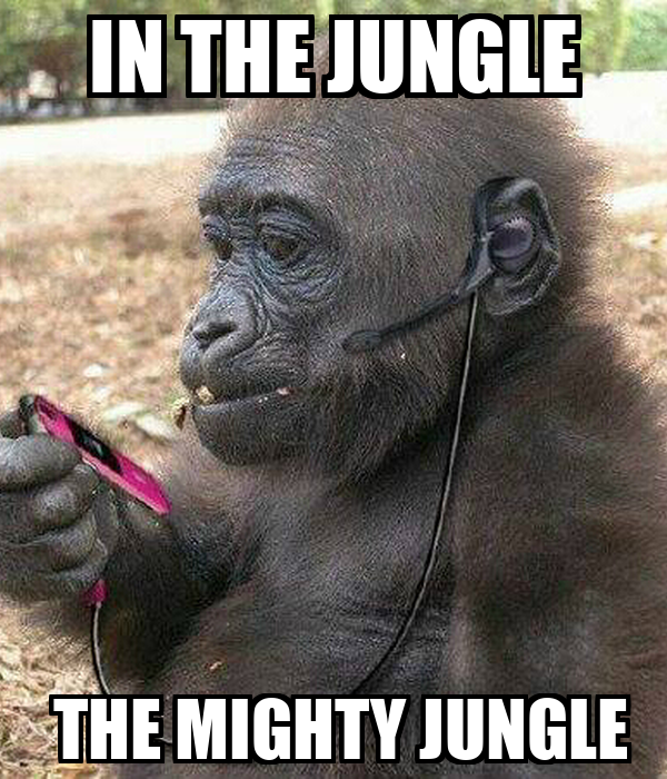 IN THE JUNGLE         THE MIGHTY JUNGLE