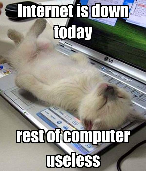 Internet is down today rest of computer useless