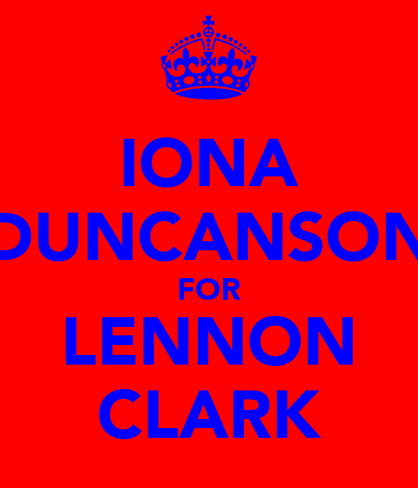 IONA DUNCANSON FOR LENNON CLARK