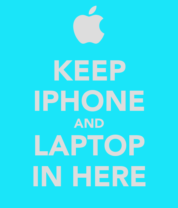 KEEP IPHONE AND LAPTOP IN HERE