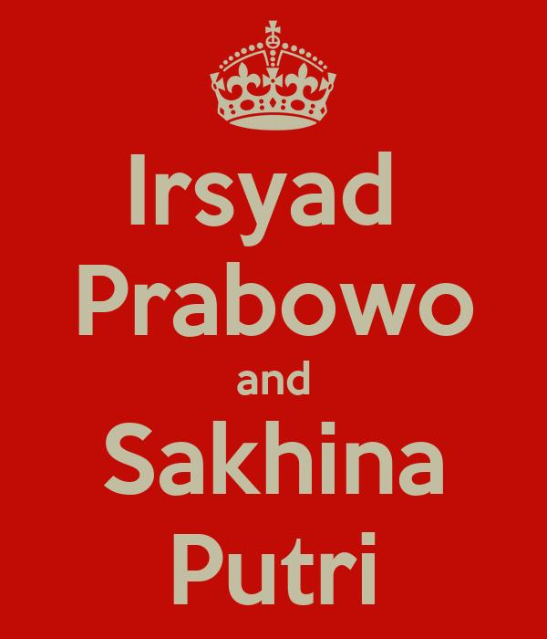 Irsyad  Prabowo and Sakhina Putri
