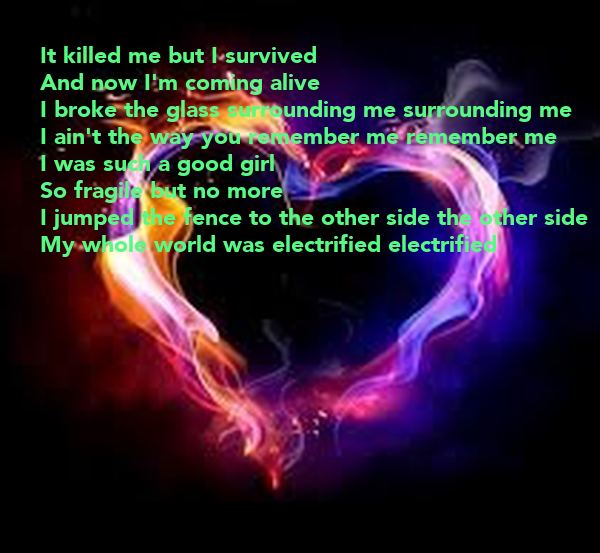It Killed Me But I Survived And Now I M Coming Alive I Broke The Glass