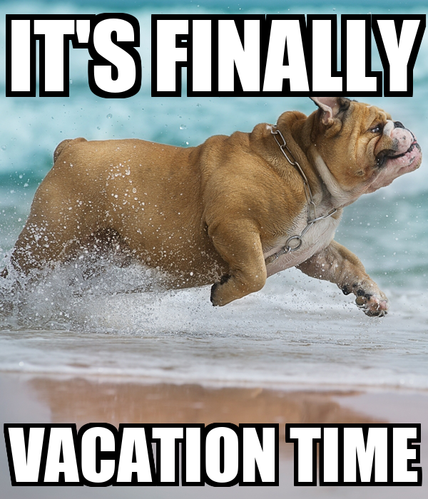 IT'S FINALLY VACATION TIME