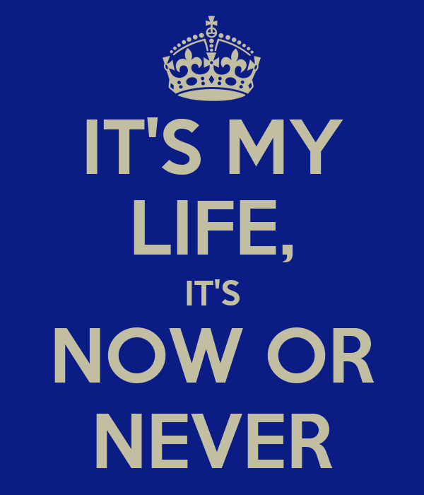 IT'S MY LIFE, IT'S NOW OR NEVER