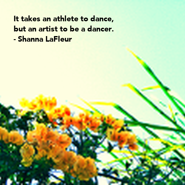 It takes an athlete to dance,