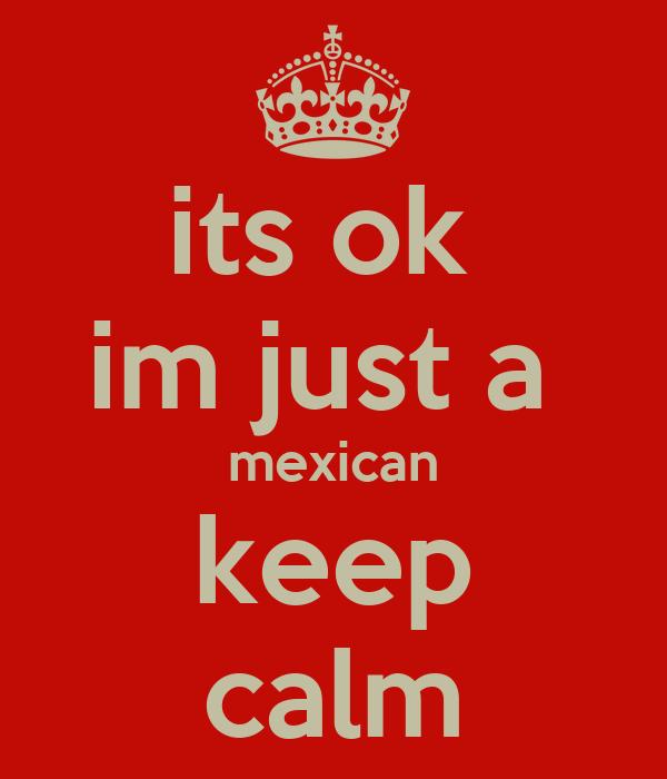 its ok  im just a  mexican keep calm