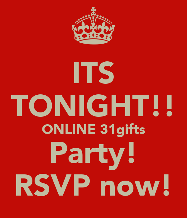 ITS TONIGHT ONLINE 31gifts Party RSVP Now Poster Shorttalker