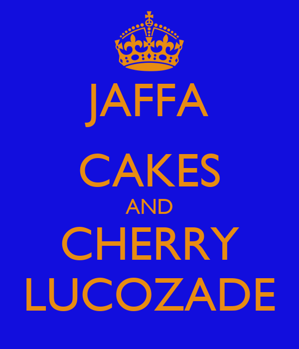 JAFFA CAKES AND CHERRY LUCOZADE