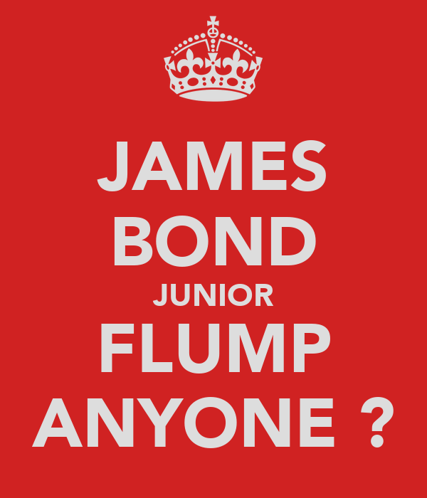 JAMES BOND JUNIOR FLUMP ANYONE ?