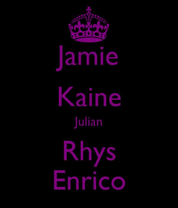 Jamie Kaine Julian Rhys Enrico