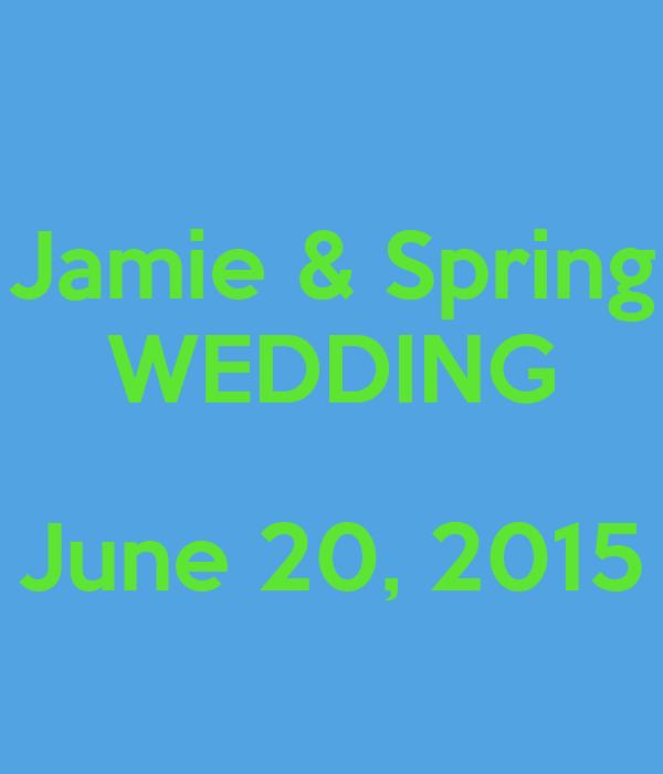 Jamie & Spring WEDDING  June 20, 2015
