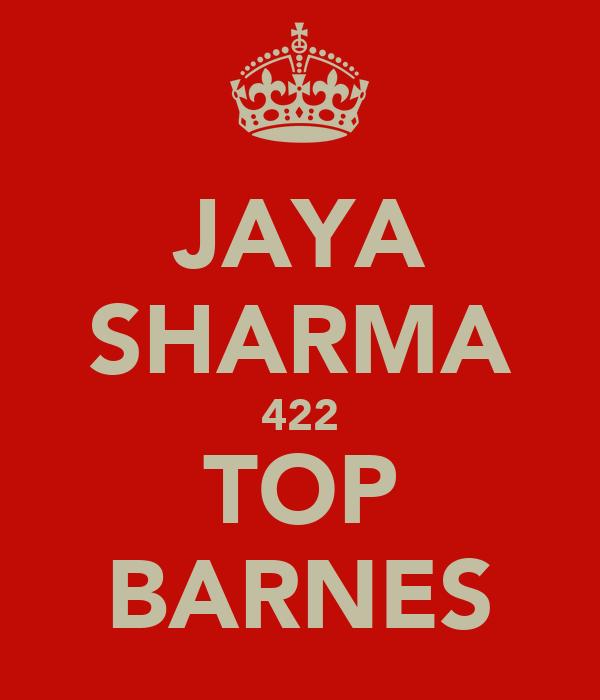 JAYA SHARMA 422 TOP BARNES